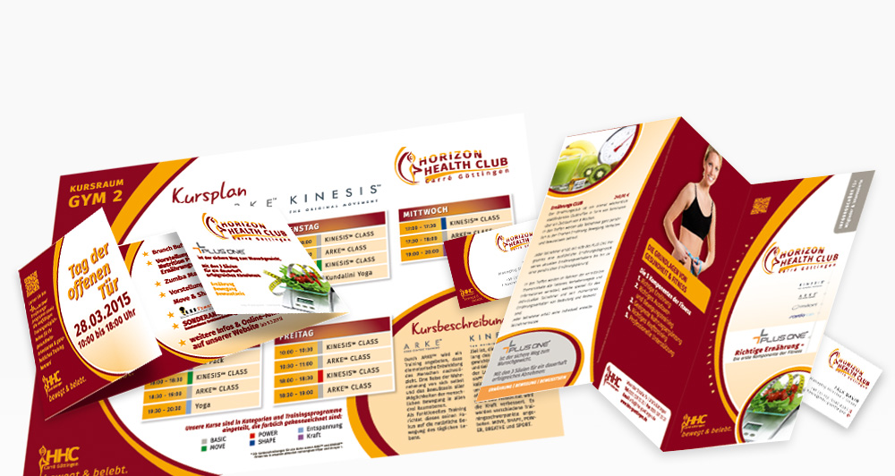 Corporate Design des Horizon Health Club